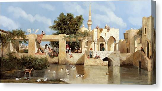 Ducks Canvas Print - Papere E Cane by Guido Borelli