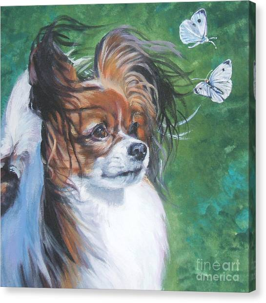 Cabbage Canvas Print - Papillon And Butterflies by Lee Ann Shepard