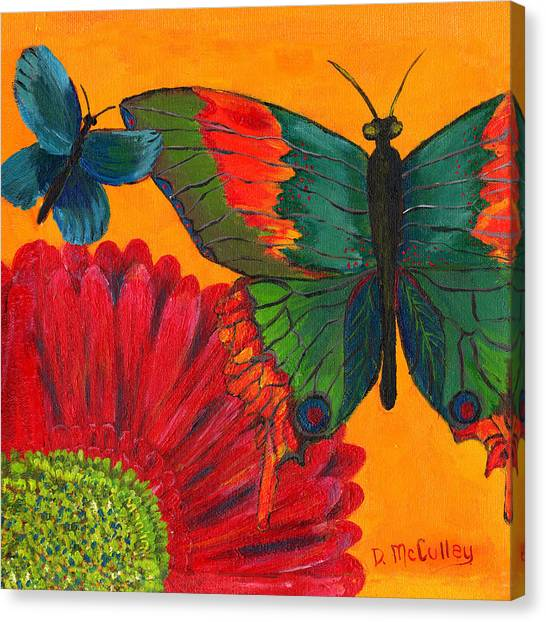 Papillon Jaune Canvas Print by Debbie McCulley