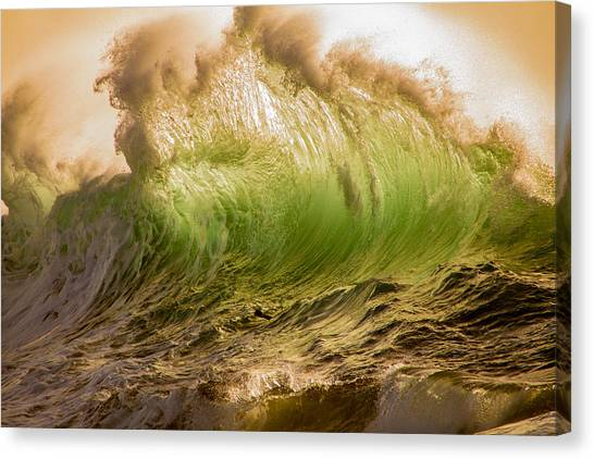 Papohaku Waves Canvas Print