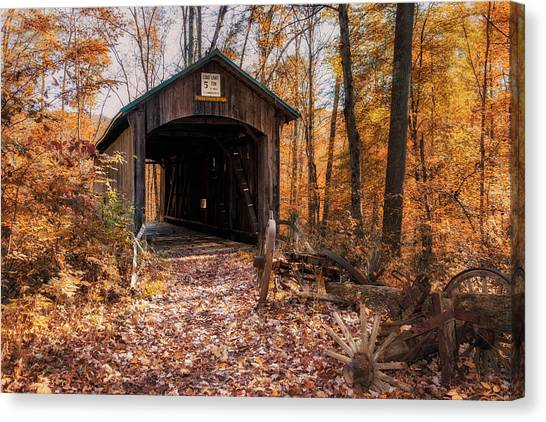 Boy Scouts Canvas Print - Pappy Hayes Covered Bridge by Tom Mc Nemar