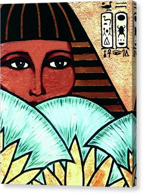 Papyrus Girl Canvas Print