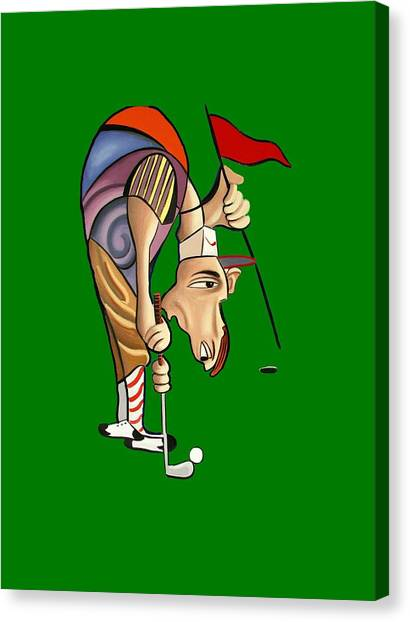 Hole In One Canvas Print - Par For The Course T-shirt by Anthony Falbo