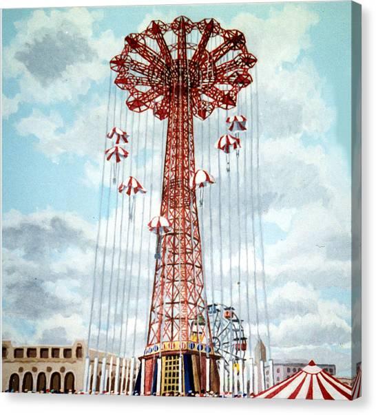 Parachute Jump In Coney Island New York Canvas Print
