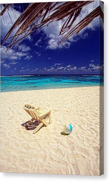 Paradise Beach Ball Canvas Print