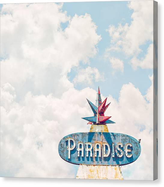 Retro Canvas Print - Paradise by Humboldt Street