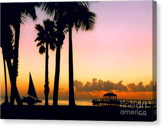 Paradise In Nevis Canvas Print by Linda  Parker