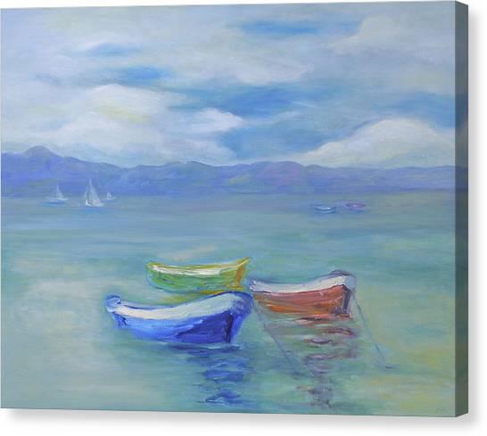 Paradise Island Boats Canvas Print