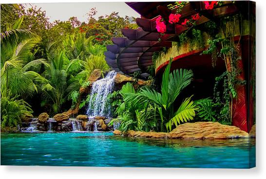 Costa Rican Canvas Print - Paradise by Karen Wiles