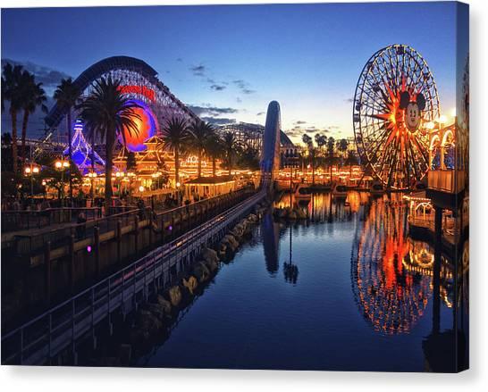 Paradise Pier Sunset Canvas Print