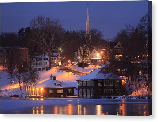 Paradise Pond Smith College Winter Evening Canvas Print
