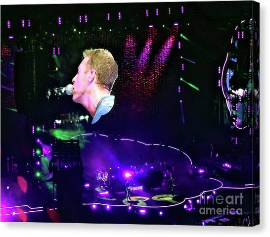 Coldplay Canvas Print - Paradise by Tanya Filichkin