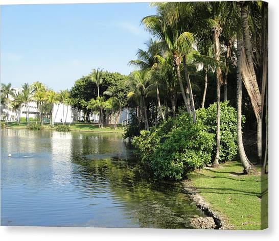 University Of Miami Canvas Print - Paradise by Teff