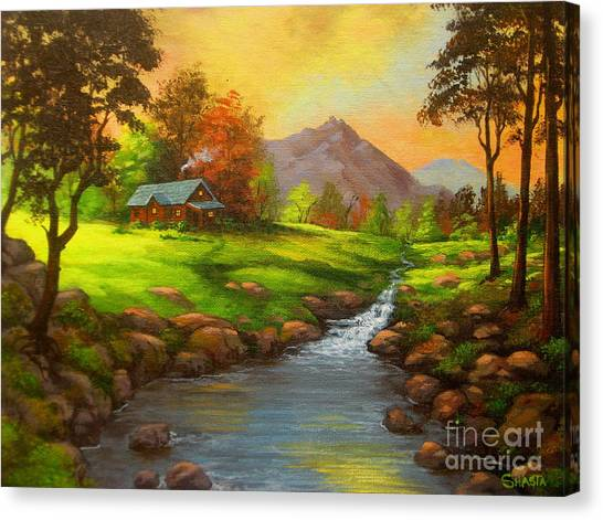 Paradise  Valley Canvas Print by Shasta Eone