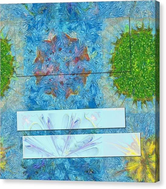 Cal Poly Canvas Print - Paradoxism Being Flowers  Id 16165-073708-09691 by S Lurk
