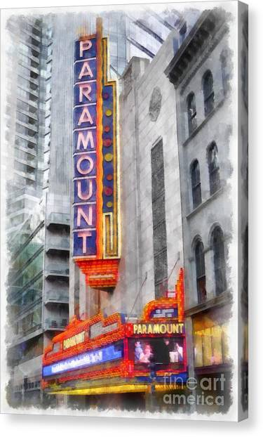Boston College Canvas Print - Paramount Theater Boston Ma by Edward Fielding