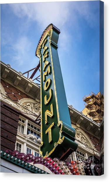 Austin Texas Canvas Print - Paramount Theatre Sign Austin Texas by Paul Velgos