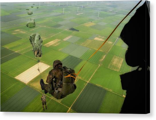 Paratroopers Canvas Print - Paratroopers by Mountain Dreams