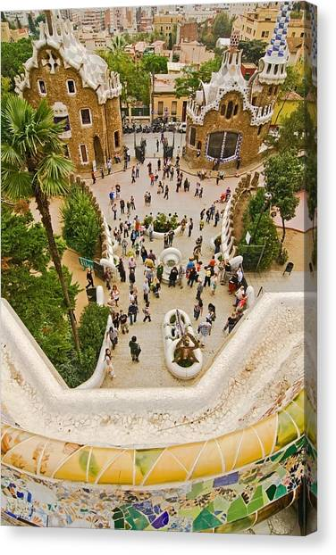 Parc Guell In Barcelona Canvas Print
