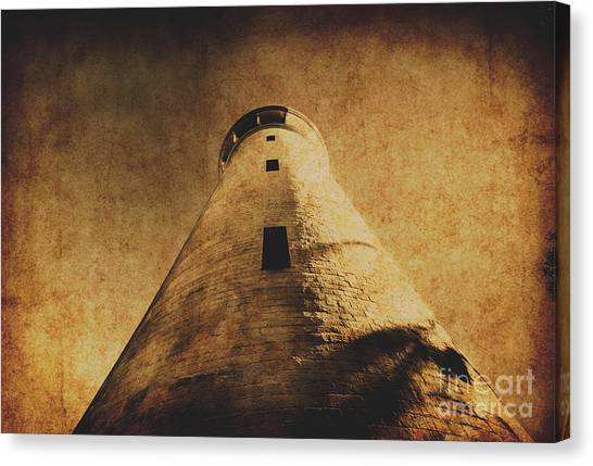 Old Age Canvas Print - Parchment Paper Lighthouse by Jorgo Photography - Wall Art Gallery