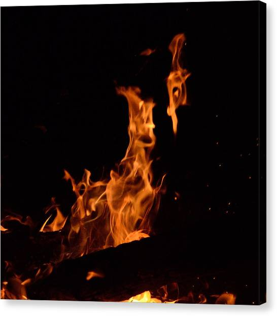 Pareidolia Fire Canvas Print