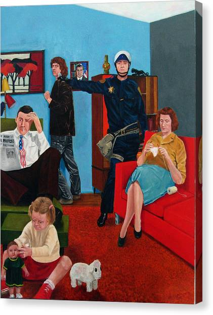 Parenting In The Sixties Canvas Print by Cecil Williams