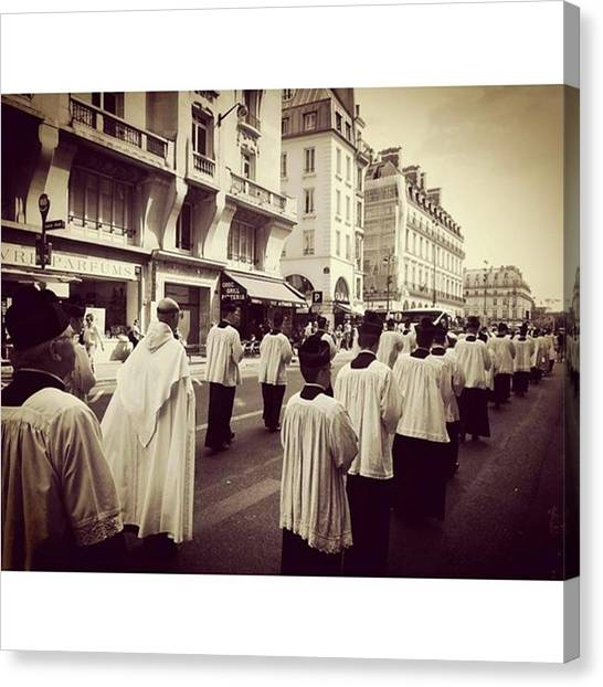 Priests Canvas Print - Parfois On Assiste à Des Scènes by Celine Biz