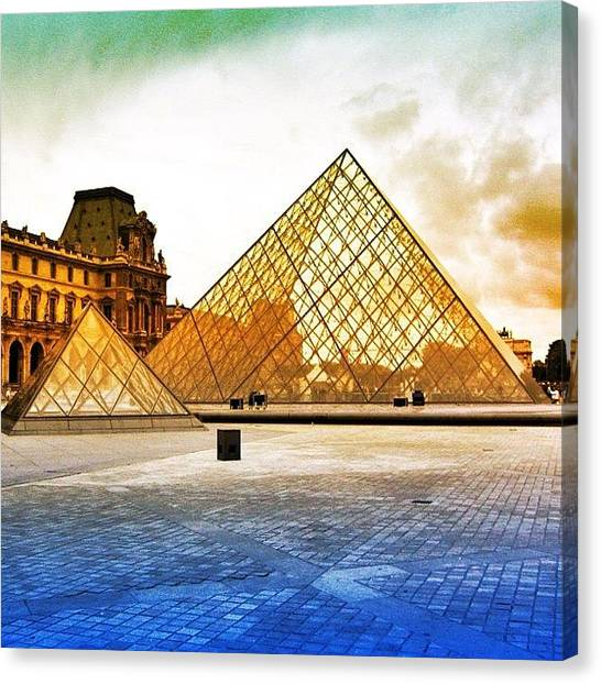 Paris Canvas Print - Paris - Louvre by Luisa Azzolini
