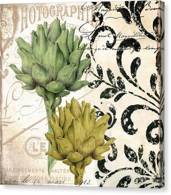 Artichoke Canvas Print - Paris Artichokes by Mindy Sommers