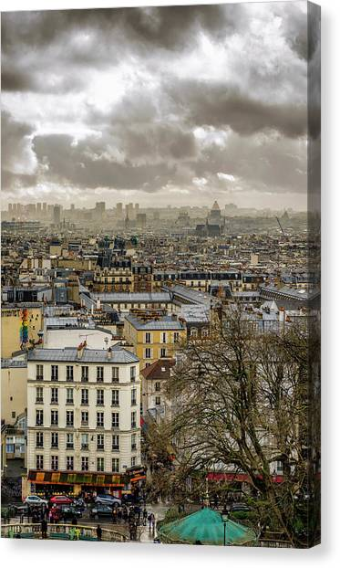Paris As Seen From The Sacre-coeur Canvas Print