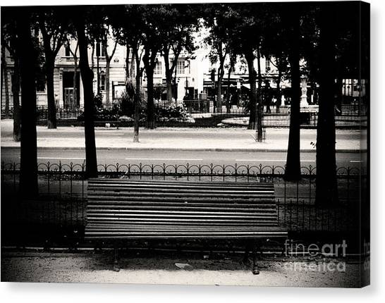 Paris Bench Canvas Print