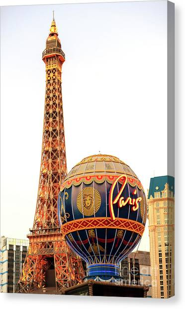 Paris Casino Las Vegas Canvas Print by John Rizzuto