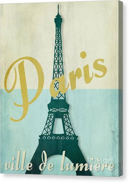 Paris Skyline Canvas Print - Paris City Of Light by Mindy Sommers