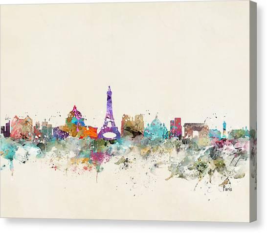Paris Skyline Canvas Print - Paris City Skylline by Bri Buckley