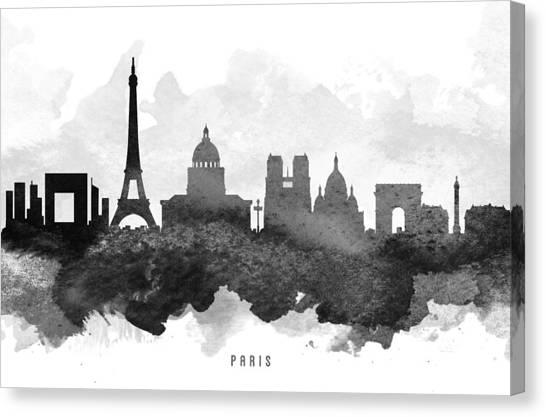 Paris Skyline Canvas Print - Paris Cityscape 11 by Aged Pixel