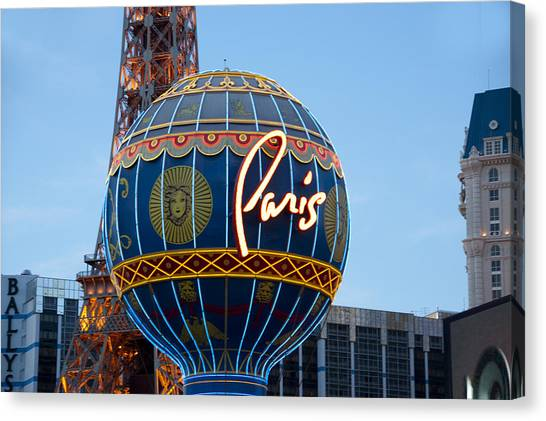 Paris-eifel Tower-las Vegas Canvas Print by Neil Doren