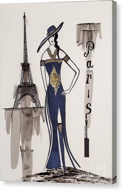 Paris Fashion Canvas Print