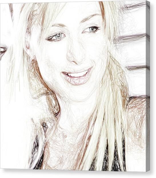 Hoodie Canvas Print - Paris Hilton by Raina Shah