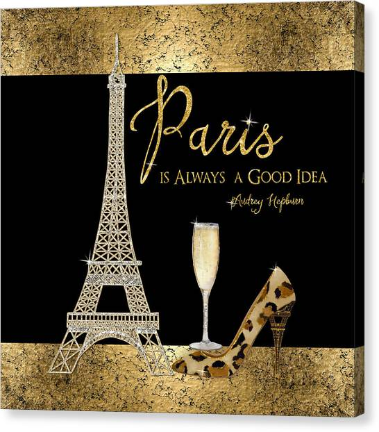 Paris Is Always A Good Idea - Audrey Hepburn Canvas Print