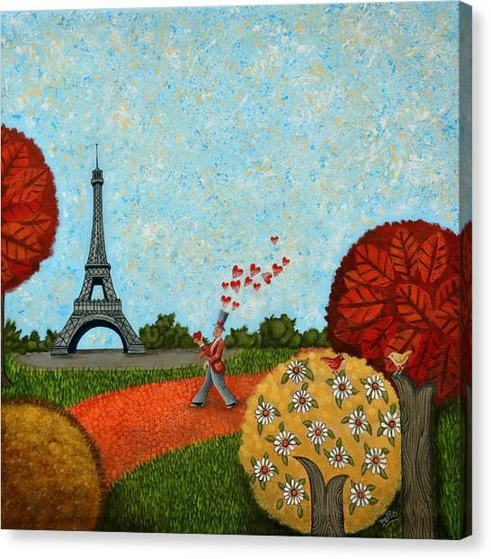 Paris Je T Aime Canvas Print