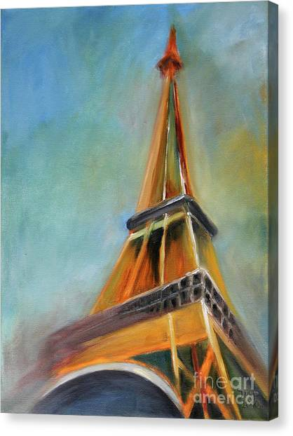 Tower Canvas Print - Paris by Jutta Maria Pusl
