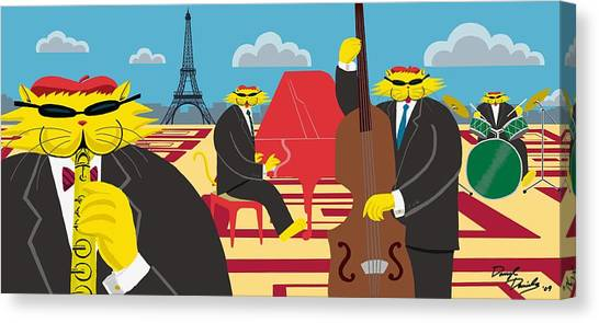 Paris Kats - The Coolkats Canvas Print