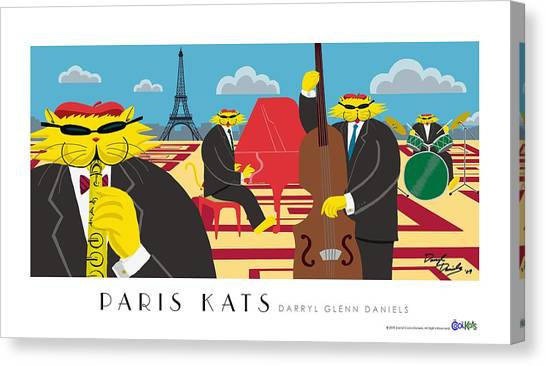 Paris Kats Canvas Print