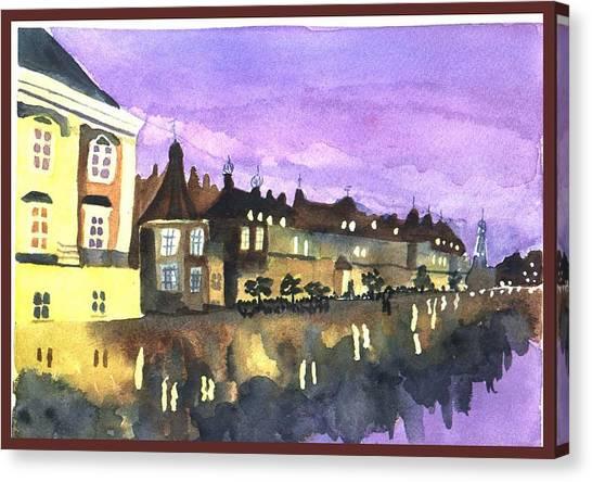 Paris Lights Canvas Print by Jane Croteau