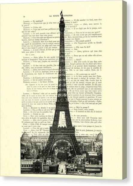 Eiffel Tower Canvas Print - Paris, Love France by Madame Memento