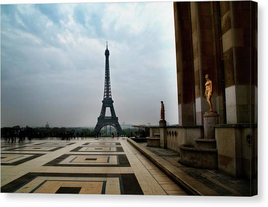 Canvas Print featuring the photograph Paris by Lucian Capellaro
