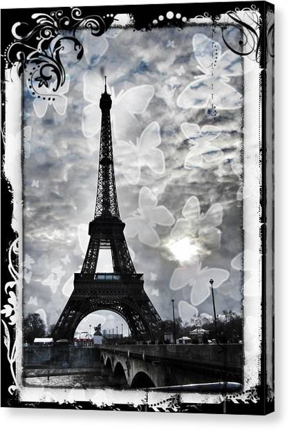 Grey Clouds Canvas Print - Paris by Marianna Mills