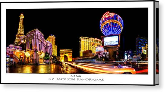 Hollywood Sign Canvas Print - Paris On The Strip Poster Print by Az Jackson