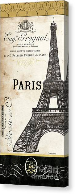 Eiffel Tower Canvas Print - Paris, Ooh La La 1 by Debbie DeWitt