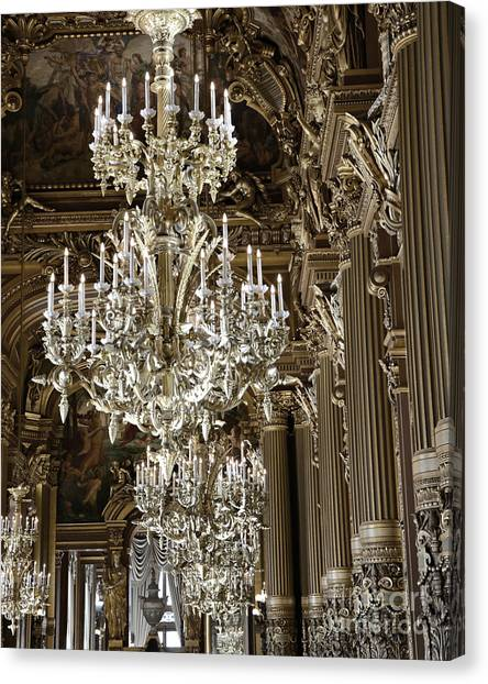 Opera garnier canvas prints fine art america opera garnier canvas print paris opera house opulent chandelier room paris chandeliers by kathy aloadofball Images